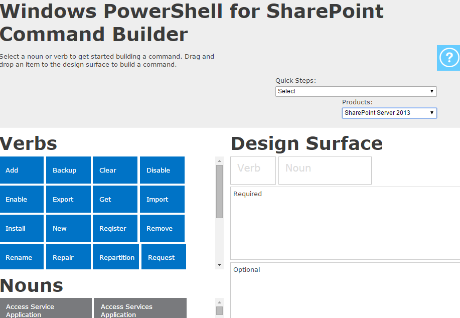 ps  u2013 powershell commandlinebuilder for sharepoint and